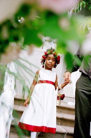 african-american-flower-girl-wearing-rose-floral-crown