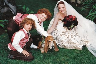 bride-and-two-ring-bearers-pet-dog-ring-bearer