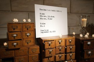 wedding-escort-cards-in-form-of-card-catalog-for-library-venue