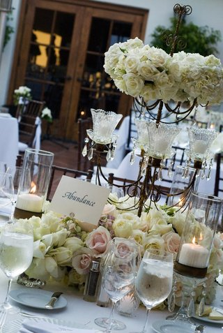 candelabra-with-candles-roses-and-hydrangea