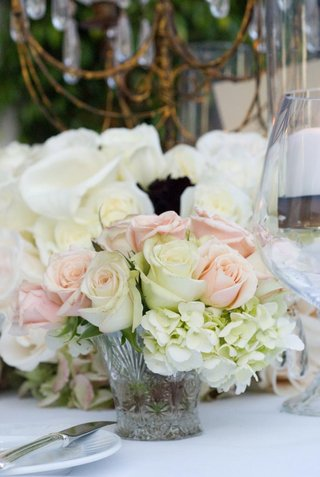 white-hydrangeas-and-pink-roses-in-small-vase