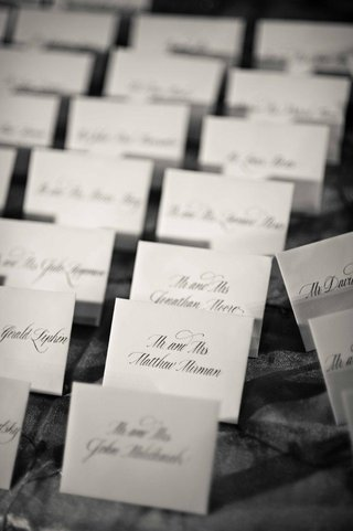 black-and-white-photo-of-calligraphy-envelopes