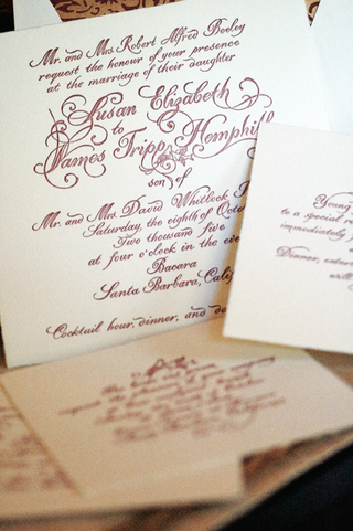 ivory-wedding-invitation-with-red-calligraphy-lettering