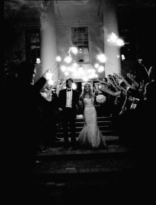black-and-white-photo-of-sparkler-wedding-exit
