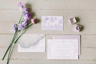 destination-wedding-invitation-suite-light-purple-tropical-motif-aloha-card-with-custom-map