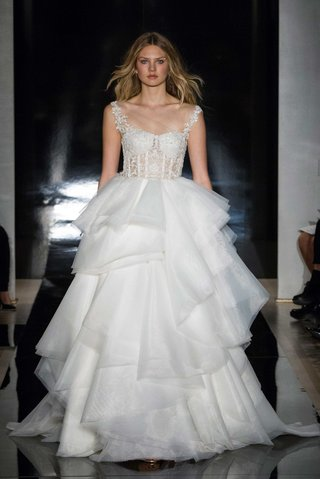 reem-acra-spring-2017-wedding-dress-with-corset-bodice-straps-and-layered-tiered-ruffle-skirt