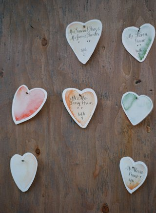 heart-shaped-seating-cards-with-watercolor-design-and-calligraphy