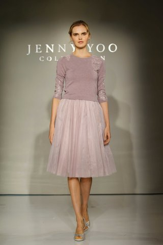 jenny-yoo-bridesmaids-2016-two-piece-bridesmaid-dress-with-purple-sweater-and-skirt