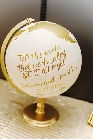 wedding-guest-book-ivory-globe-painted-with-gold