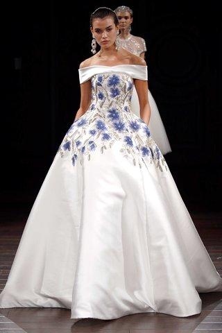 naeem-khan-bridal-spring-2017-amman-ball-gown-wedding-dress-blue-flower-embroidery-off-shoulder