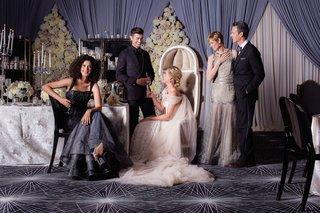 bride-in-an-inbal-dror-dress-groom-in-a-purple-smoking-jacket-mother-of-the-bride-in-a-long-dress