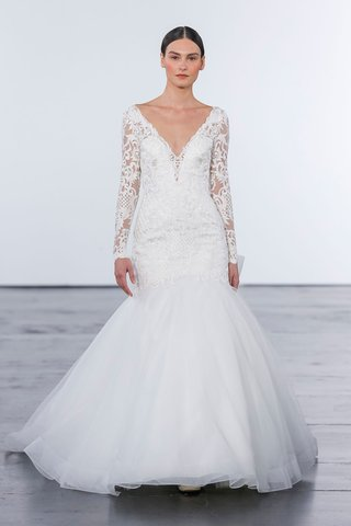 dennis-basso-for-kleinfeld-2018-collection-wedding-dress-long-sleeve-lace-mermaid-trumpet-gown