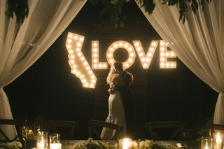 light-display-at-wedding-shape-of-california-lights-love-lights