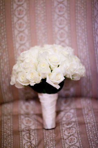 still-life-image-of-ivory-rose-wedding-bouquet