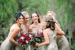 bridesmaids-in-metallic-sequin-amsale-dresses-bridesmaids-with-headpieces