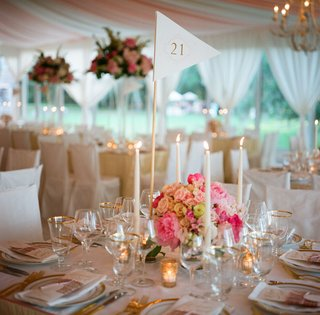 gold-rimmed-glassware-inside-tented-reception