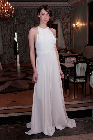 delphine-manivet-spring-summer-2017-edmond-halter-wedding-dress-with-belt-and-silk-crepe-sheath