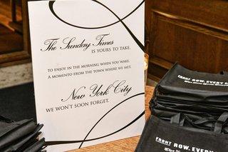 wedding-favor-of-nycs-the-sunday-times