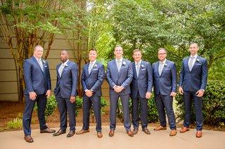 groomsmen-in-blue-suits-silver-ties-with-dark-brown-dress-shoes-wedding-georgia