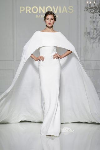 column-wedding-dress-with-cape-by-pronovias