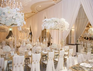 opulent-wedding-reception-with-ivory-and-gold-floral-arrangements-on-tall-gold-stands