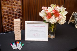 bridal-shower-guest-book-composed-of-jenga-pieces