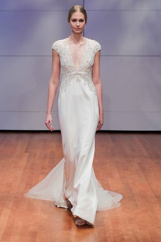 cap-sleeve-deep-v-wedding-dress-by-rivini-fall-winter-2016-collection