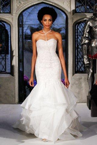 oleg-cassini-spring-2018-wedding-dress-strapless-trumpet-gown-sweetheart-neck-lace-organza-ruffles