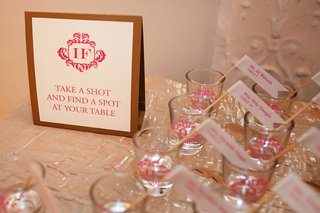 pink-and-white-shot-glass-personalized-escort-card