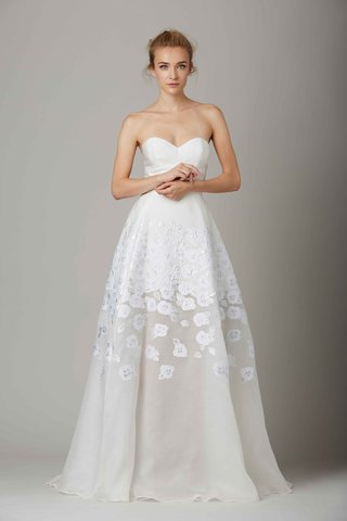 the-parlor-strapless-wedding-dress-with-flower-design-by-lela-rose-fall-winter-2016