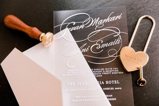wedding-invitation-lucite-acrylic-sheet-with-white-lettering-translucent-wedding-ideas