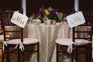 gilt-simple-chair-sinage-new-couple-dayton-ohio-wedding-reception-clean-style-decor-wood