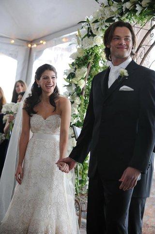 genevieve-cortese-and-jared-padalecki-at-wedding-ceremony