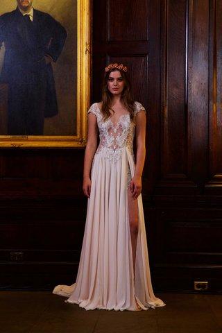 berta-bridal-fall-winter-2016-wedding-dress-lace-illusion-cap-sleeve-bodice-with-high-slit-chiffon