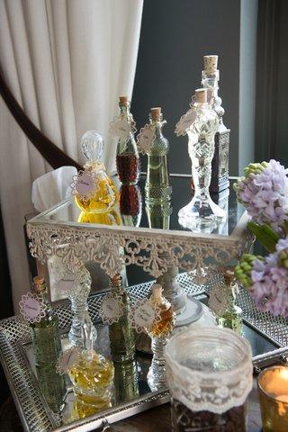 custom-perfumes-mirrored-display-new-york-city-bridal-shower-favors-vintage