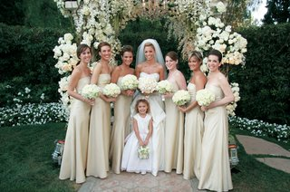 strapless-off-white-bridesmaid-dresses