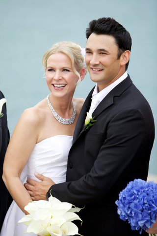 bride-and-groom-smile-on-wedding-day