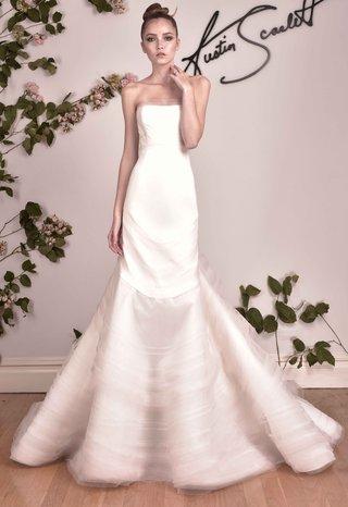 austin-scarlett-fall-2016-strapless-mermaid-wedding-dress-with-pale-pink-details