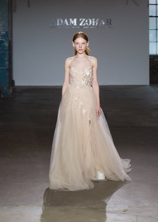 shirana-by-adam-zohar-nude-dress-with-tulle-skirt-plunging-neckline-three-dimensional-florals-an