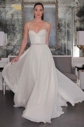 romona-keveza-luxe-bridal-fall-2016-chiffon-wedding-dress-with-spaghetti-straps