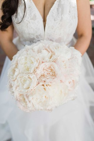 wedding-bouquet-light-pink-and-ivory-peony-flowers-lace-dress