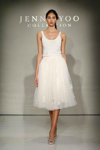 jenny-yoo-bridal-2016-short-wedding-dress-skirt-with-tank-top