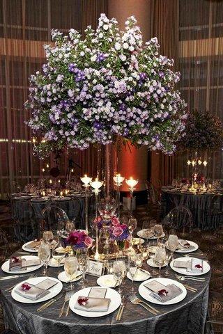 tree-like-purple-flower-centerpiece-at-wedding-reception