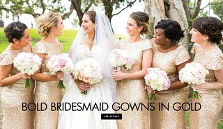 gold-bridesmaid-dresses-gowns-gilt-make-your-girls-stand-out-metallics-wedding-attire