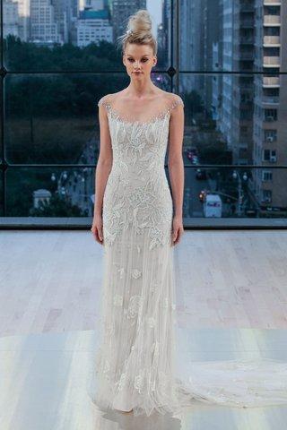 dakota-ines-di-santo-fall-2018-godet-skirt-embellishments-illusion-cap-sleeve-neckline-wedding