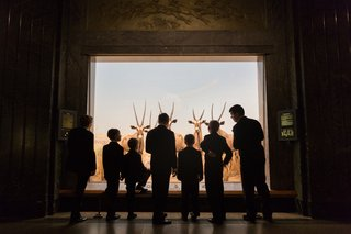 wedding-guests-explore-the-exhibits-at-the-american-natural-history-museum