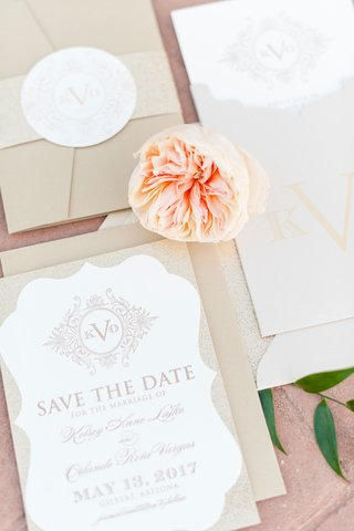 invitation-suite-save-the-date-card-with-monogram-custom-on-top-garden-rose-belly-band