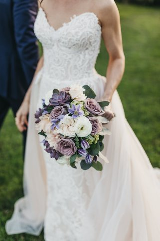 bridal-bouquet-with-dusty-purple-roses-and-succulents-with-pale-blush-and-ivory-flowers