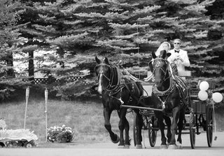 black-and-white-photo-of-horse-and-wagon-transport