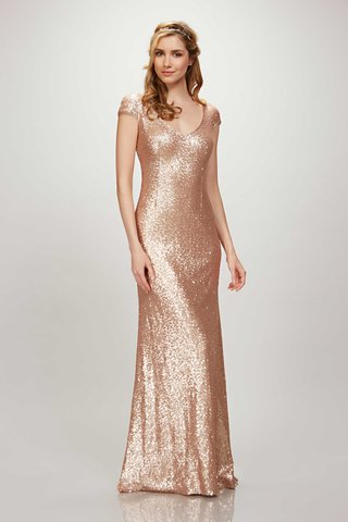 theia-bridesmaids-spring-2017-kaylee-short-sleeve-long-bridesmaid-dress-matte-sequin-v-rose-gold